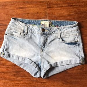 Forever 21 Low-rise Denim Shorts